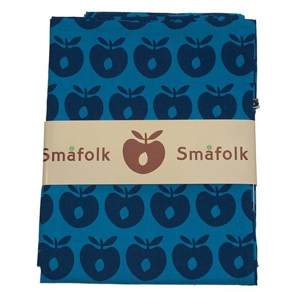 Smafolk junior bedlinnen - apples blue