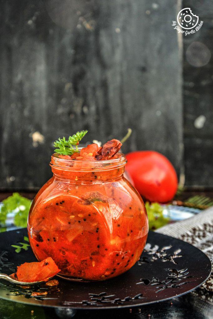 -tomato-mustard-garlic-chutney|mygingergarlickitchen.com/ @anupama_dreams