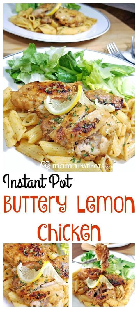 Who doesn't love lemon and butter? Try this delicious and easy instant pot buttery lemon chicken over rice, chicken or with a side of vegetables.