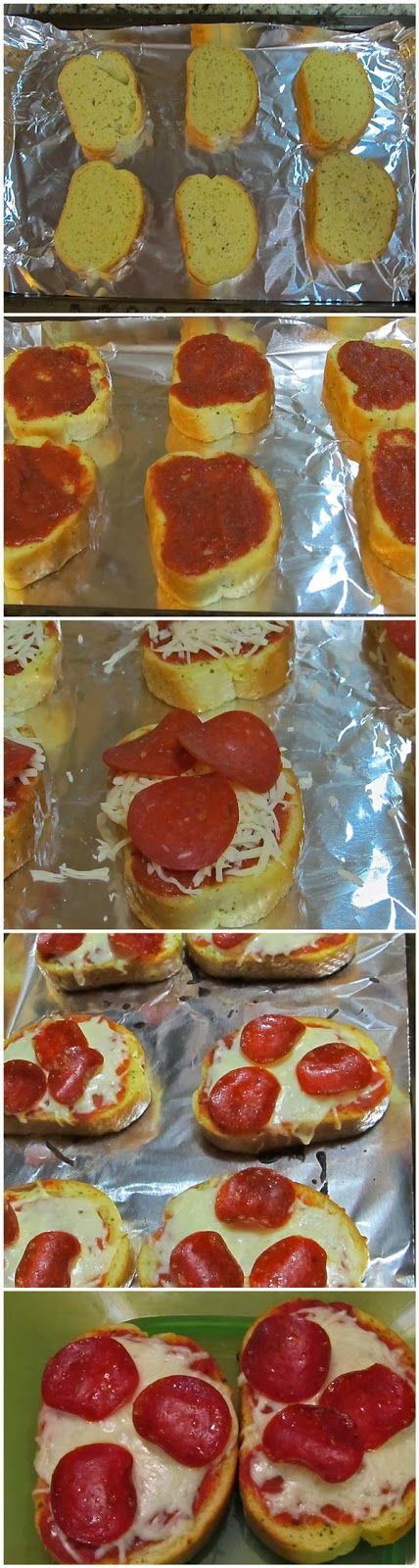 Texas Toast Garlic Bread Pizza- why didn't I think of this before??