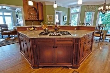 large open kitchen images with center island | They all gather around the kitchen island...""