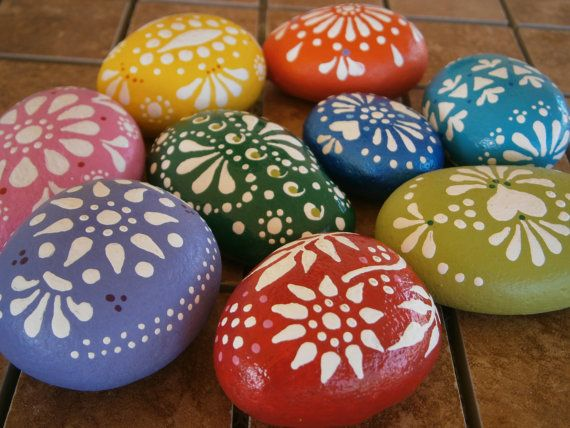 396 best rocks images on pinterest rock painting for Colored stones for crafts
