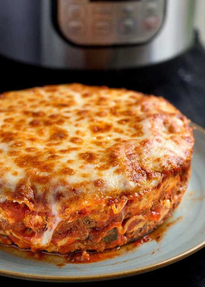 Instant Pot Lasagna is delicious and hearty. No need to pre-cook the pasta. Use no-boil noodles. This is a great pressure cooker lasagna recipe, and it's pretty easy to make!