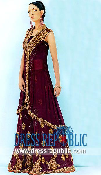 Berry Epsom, Product code: DR1695, by www.dressrepublic.com - Keywords: Premier online retailers of Pakistani Shalwar Kameez, Bridal Dresses and Jewellery