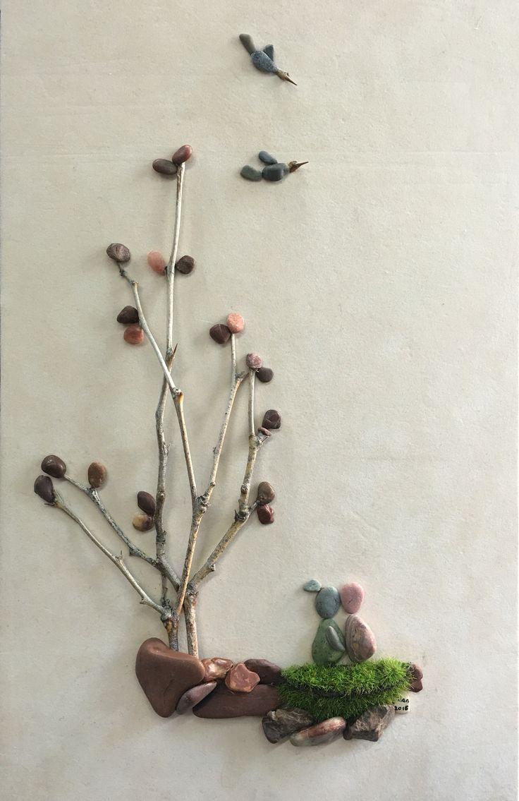 Pebble art big love (Gülen)