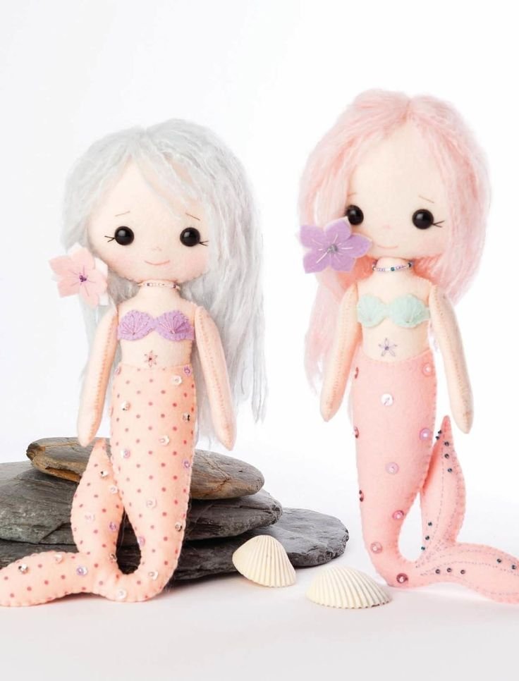 Little Mermaids  •  Free tutorial with pictures on how to make a character plushie in under 60 minutes