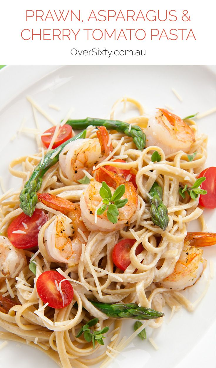 Prawn, Asparagus & Cherry Tomato Linguine Recipe - a delicious, light pasta dish that's easy to whip up but good enough for company? Let's begin!