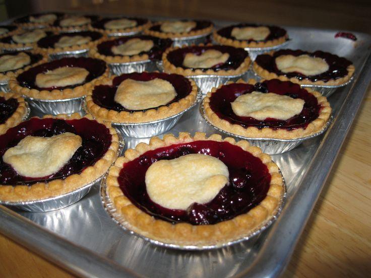 Saskatoon berry tarts