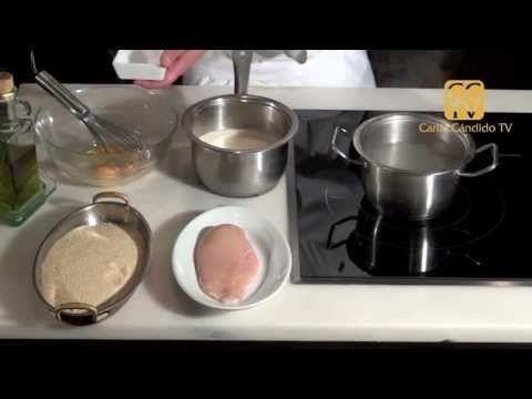Pechuga de pollo a la Villeroy - YouTube
