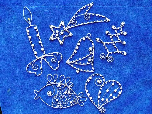 christmas ornaments wire