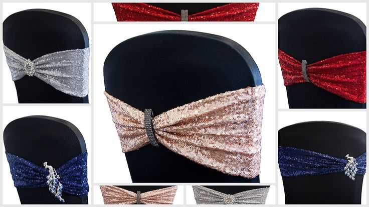 Spandex Chair Covers With Sequin Lycra Bands At Ccd