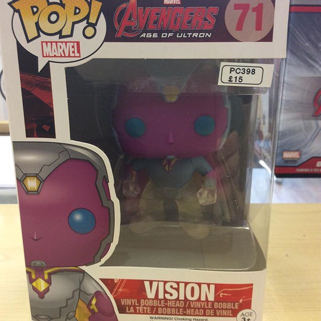 """Avengers age of Ultron ltd faded version of Vision funko pop vinyl #ageofultron #avengers #funko #marvel Like this? I'm selling it on @depopmarket. Search for me: diversions on #depop ✌ "" Photo taken by @diversionsgifts.co.uk on Instagram, pinned via the InstaPin iOS App! http://www.instapinapp.com (07/17/2015)"