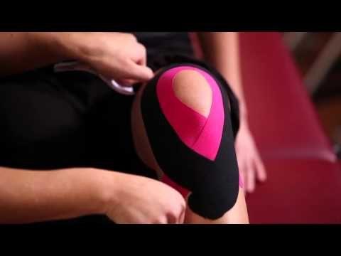 ▶ Kinesio Tape, Kinesiologie Tape bei Knieschmerzen (unspezifischer Knieschmerzen) - YouTube
