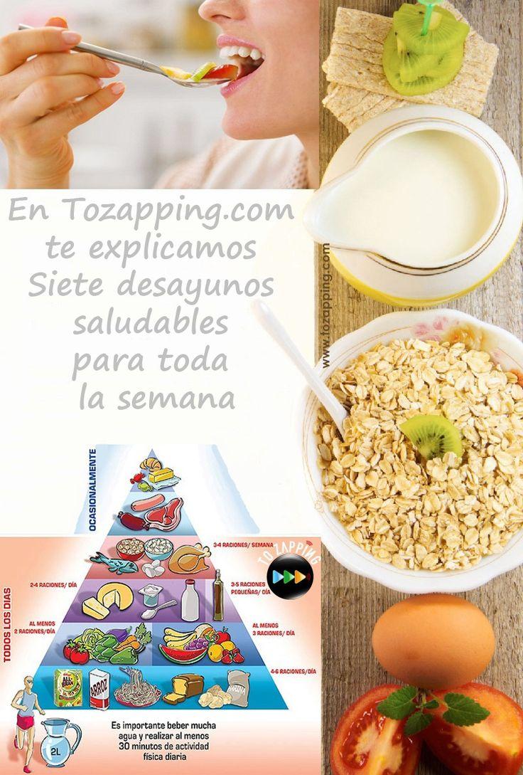 Siete desayunos saludables para toda la semana