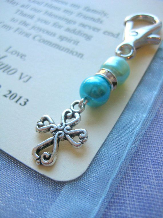 Communion baptism party favor cross charm. SET of by buysomelove