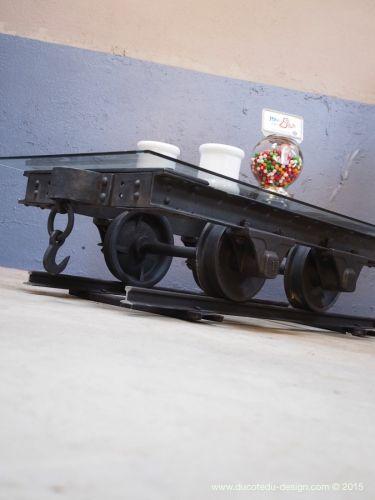 216 best mobilier images on pinterest - Table basse metal industriel ...