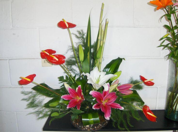 73 best arreglos florales y frutales images on pinterest - Arreglos de flores artificiales ...