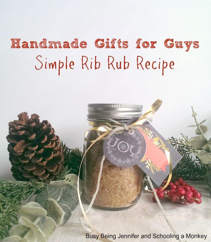 Easy DIY Gift Ideas! - simple rib rub recipe - busybeingjennifer.com