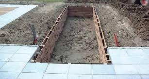 fundament voor strakke vijver