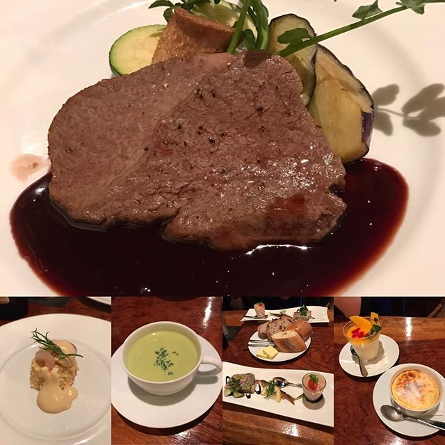 ここのフィレステーキは柔らかくてすごーくサッパリアッサリで激ウマ♡☺︎☺︎ 前菜も美味しかったし、グリーンピースのポタージュも美味しかった⚈້໋͈͡ ૈ ˌ̫̮ ⚈້໋͈͡ ૈ❤ #錦糸町でお洒落なダイニングバー#大人女子 #大人の隠れ家 #大人の空間 #肉好き #肉食女子 #肉 #肉食 #ステーキ🍖 #お肉大好き #お肉柔らかい #お肉最高