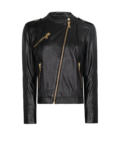 MANGO - Biker leather jacket