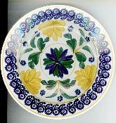 Societe Ceramique Stick Spatter Spongeware Dessert Plate Set