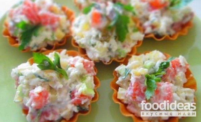 Салат с семгой - рецепт приготовления с фото | FOODideas.info