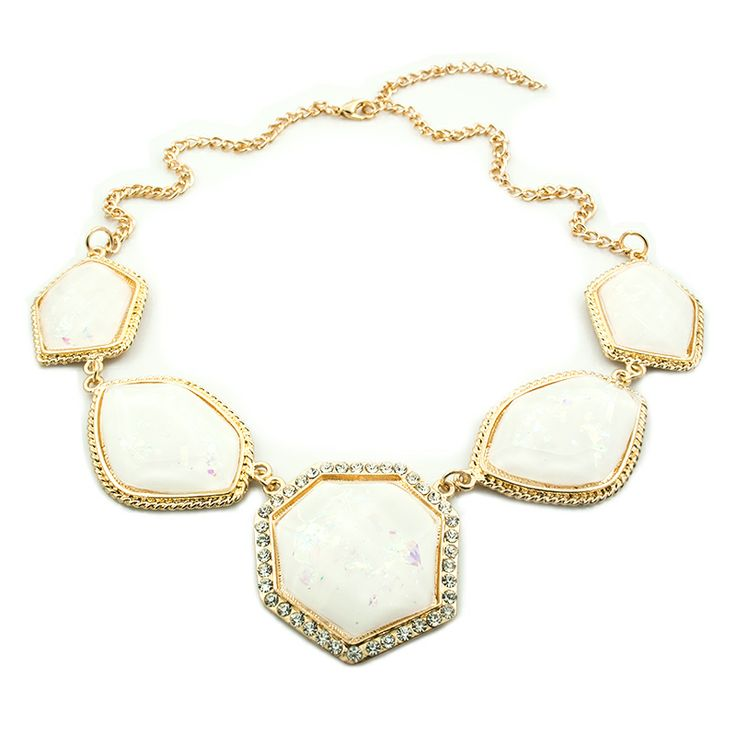 "Statement ketting ""Holografic White"""