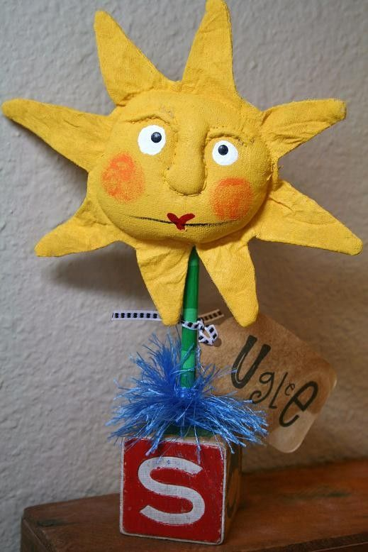 Sun On Stick by buttuglee on Etsy