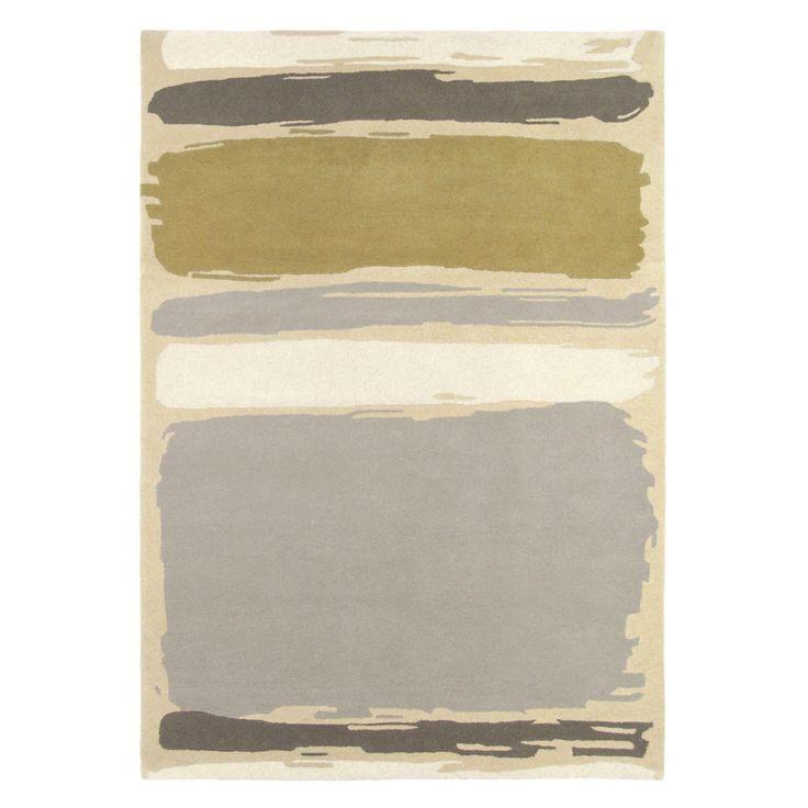 Teppich Abstract - Schurwolle - Beige