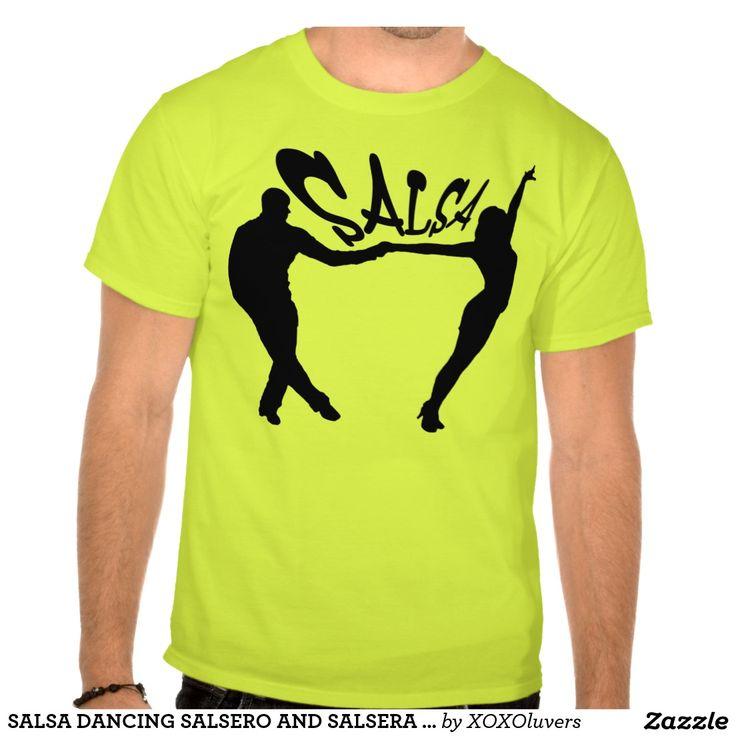 SALSA DANCING SALSERO AND SALSERA T-SHIRT#zazzle #salsa #salsera #salsero #tshirts #dance #dancing #salsadancing