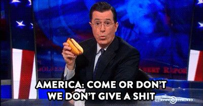 The time he wrote us a new tourism slogan: | 12 Times Stephen Colbert America'd Harder Than Everyone Else