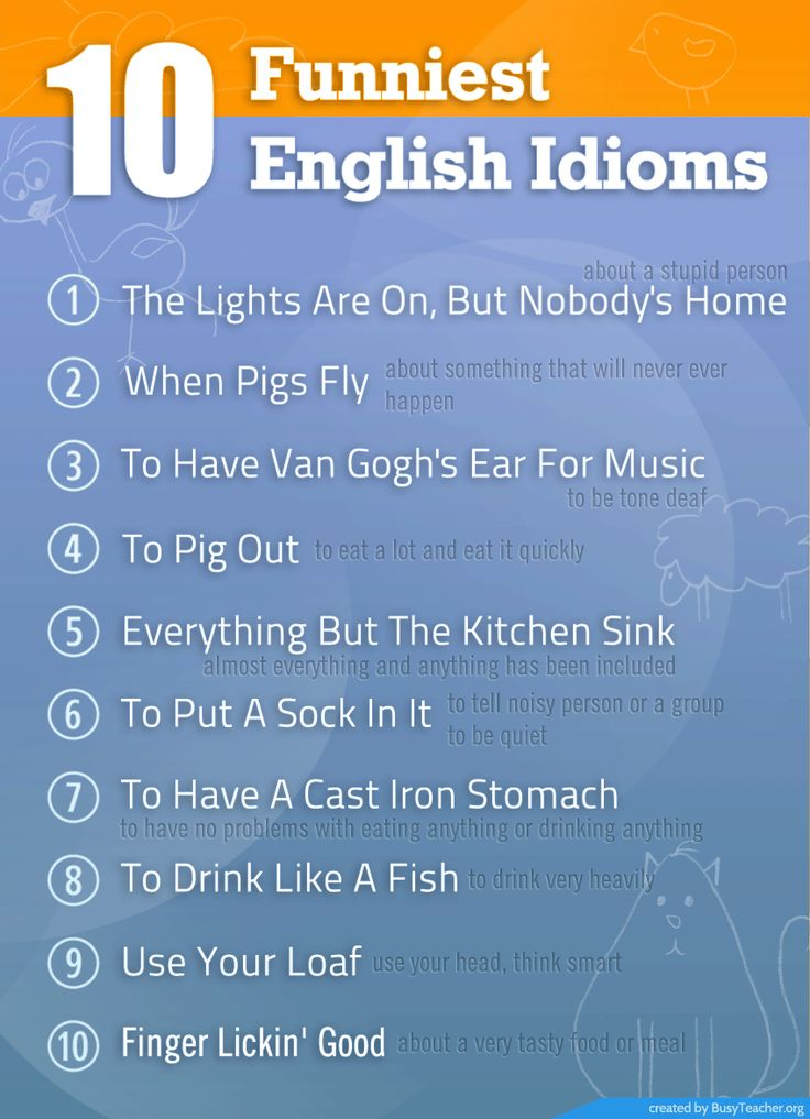 10 Funniest English Idioms #learn #english #esl #toefl