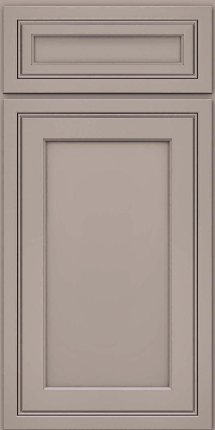 Door Detail Square Recessed Panel Veneer Asm Maple In Pebble Grey Kraftmaid Cabinetry