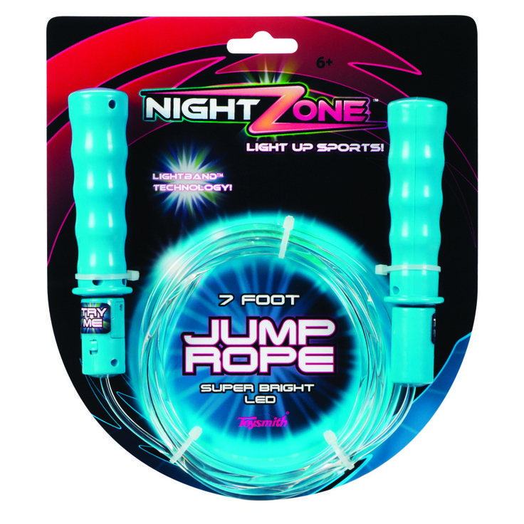 Light Up Jump Rope Toysmith  Nightzone Jump Rope  The 7 Foot Jump Rope Has Swivel