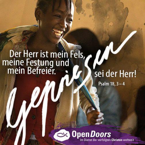 Open Doors seit mehr als 60 Jahren im Dienst der verfolgten Christen weltweit.