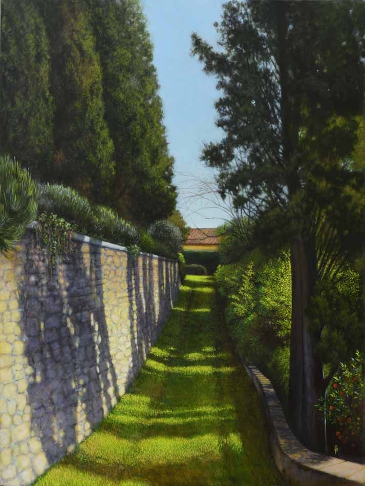 THE SECRET GARDEN oil on linen   2016 120 x 90 cm