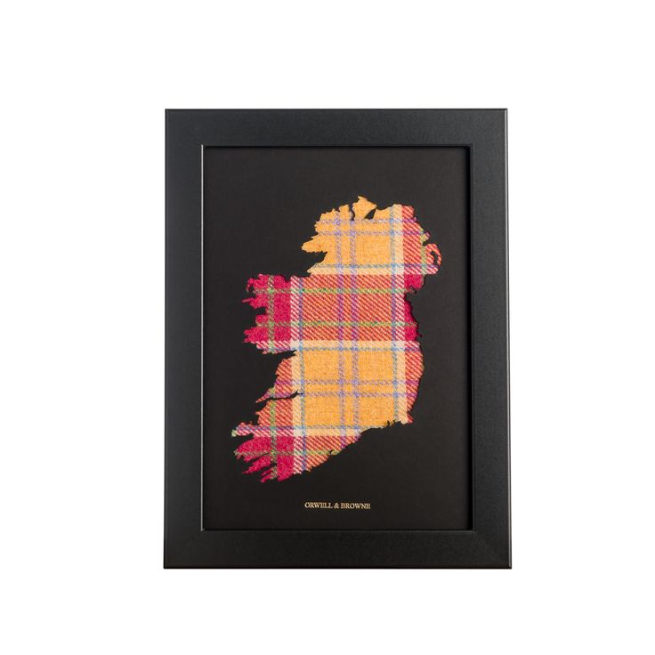 """Middling Spring"" - Map of #Ireland with luxurious Donegal #tweed underlay. Designed and handmade in Ireland."