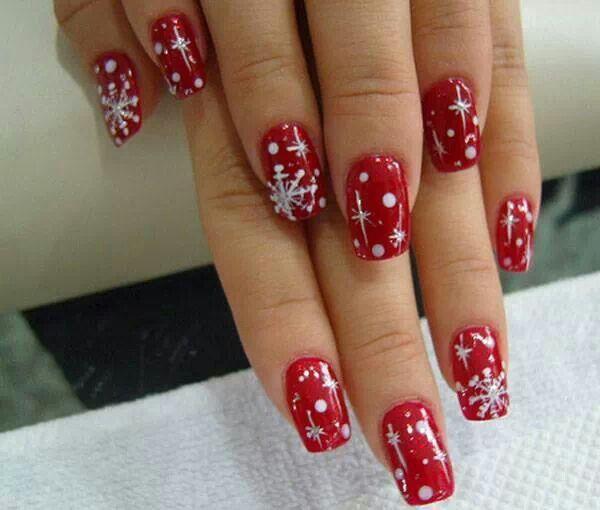 Christmas nails, unas decoradas navidad