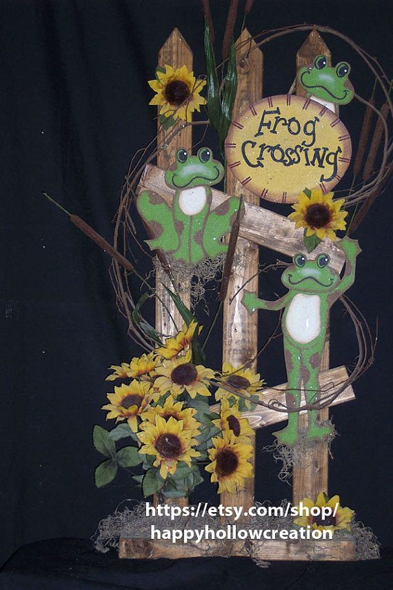 36 Frog Crossing Wood Pattern Packet by happyhollowcreation, $6.98