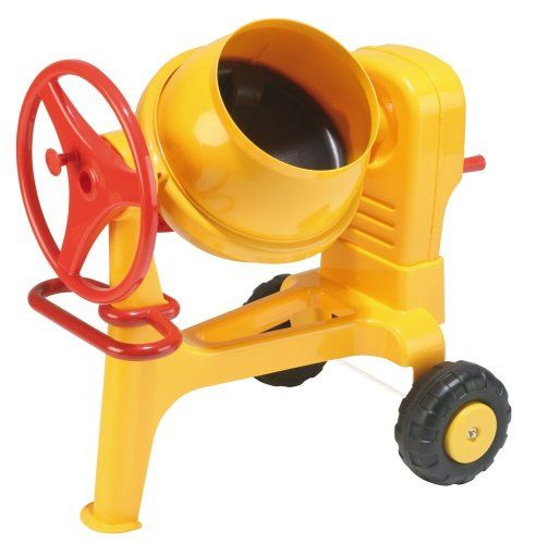 """$99.77-$119.99 Baby Wader Construction Cement Mixer - You've never seen a toy cement mixer like this! It actually mixes sand or mud and water; kids can crank the wheel or turn the handle to spin the drum. Holds up to 10 lbs. of mixture, and it's on wheels, so kids can push it to their """"building site"""" or sandbox. For ages 3 and up.. Take construction play to a whole new level, with our thrilling, ..."""