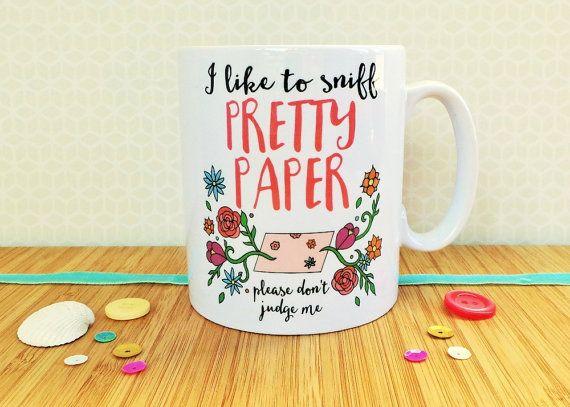 I Like To Sniff Pretty Paper Mug Crafter's Mug Colourful