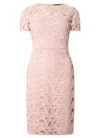 Womens Pink Lace Pencil Dress- Pink