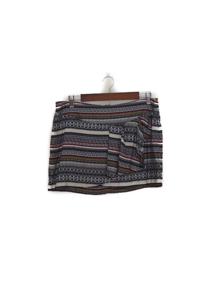 Falda mini, estampado etnico, volante, Otoño Invierno, Pull&Bear Mini skirt, ethnic, ruffle, Autumn Winter