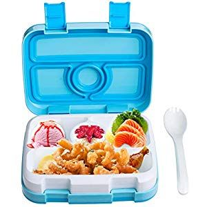 Auslaufsicher Lunch-Boxen Kinder Lunchbox Bento Box Set Brotdose mit 5 Unterteil…