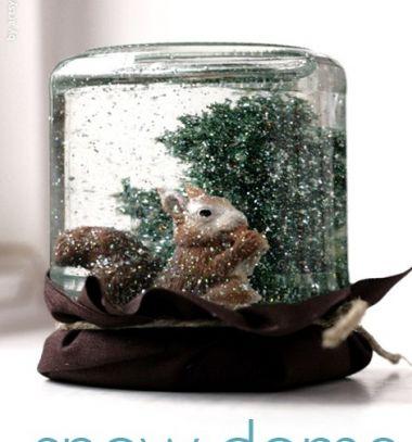 DIY winter mason jar snowglobes  // Egyedi hógömbök házilag befőttes üvegekből // Mindy - craft tutorial collection //