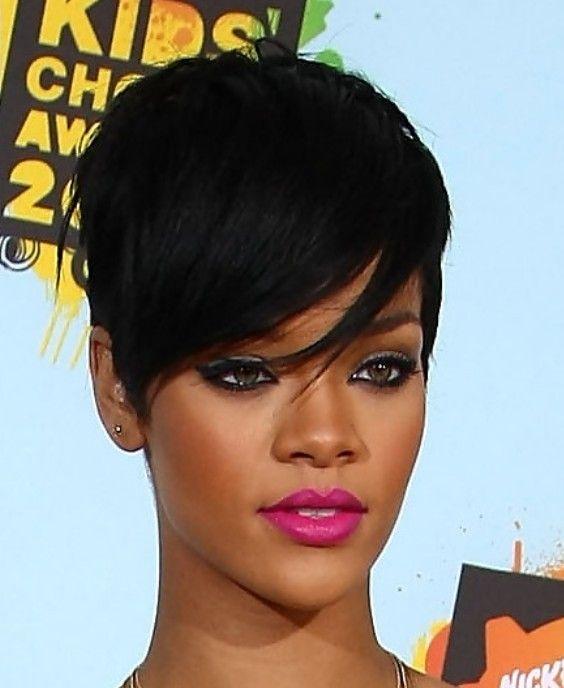Rihanna Short Black Haircut Short Black Haircuts