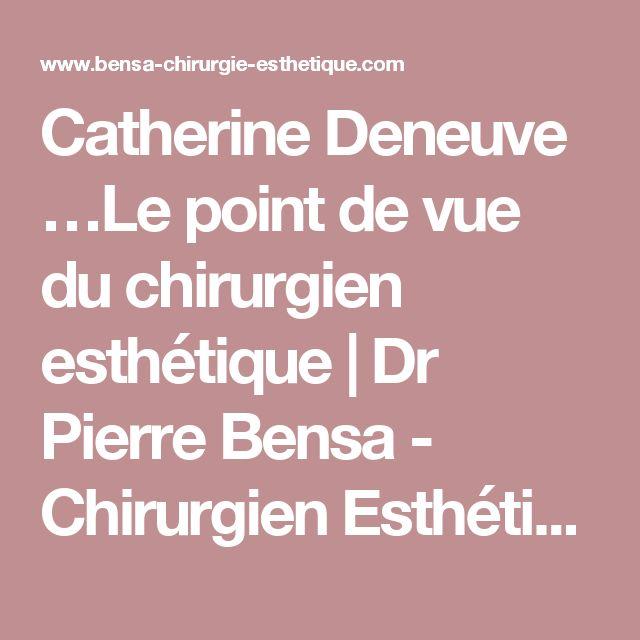 Catherine Deneuve …Le point de vue du chirurgien esthétique | Dr Pierre Bensa - Chirurgien Esthétique