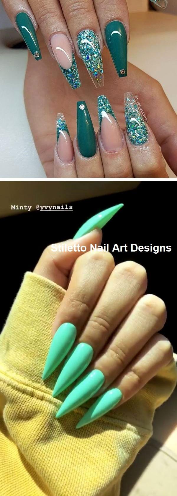 30 Ideen für großartige Stiletto-Nageldesigns #stiletto – Ovale Nägel