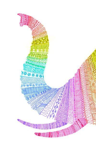 elefante arco iris